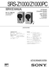 Buy Sony SRS-Z30 Service Manual. by download Mauritron #244608