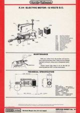 Buy Hornby No.081 X04 Motor Service Sheets by download Mauritron #206785
