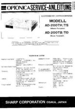 Buy Sharp AD200TH-TS-TB-TD SM DE(1) Service Manual by download Mauritron #207967