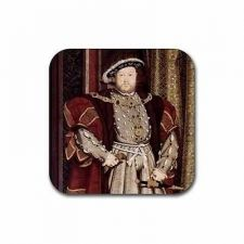 Buy King Henry VIII The 8th Hobein Art Set Of 4 Square Rubber Coasters