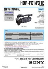 Buy Sony HDR-FX1FX1E[2] Service Manual by download Mauritron #241329