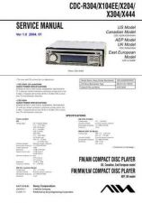 Buy Sony CDC-R304-X104EE-X204-X304-X444 Service Manual by download Mauritron #2316