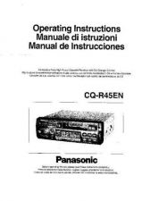 Buy Panasonic CQR45EN Operating Instruction Book by download Mauritron #235958