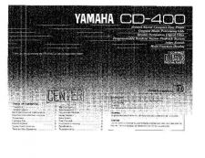Buy Yamaha CD-400 Operating Guide by download Mauritron #246953