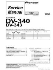 Buy Pioneer DV-340[] Service Manual by download Mauritron #234096