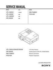 Buy Sony SONY-VPL-S900U SM Manual by download Mauritron #229776