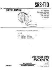 Buy Sony SRS-T1-T1PC Service Manual. by download Mauritron #244596