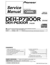 Buy Pioneer DEH-P7300R Technical Manual by download Mauritron #232512
