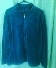 Buy Women's WestBound Woman Velour Zip Front Jacket 1X Blueish Green