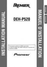 Buy Pioneer 49605 Installation manual DEH-P520 20023151539156830 Manual by download