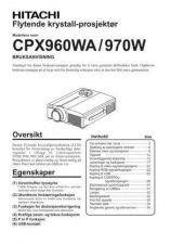 Buy Hitachi CP-X1250W NL Manual by download Mauritron #224750