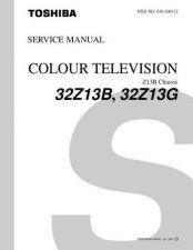Buy TOSHIBA 32Z13BG SERVICE Service Information by download #113990