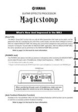 Buy Yamaha MAGICSTOMP MK2 FR Operating Guide by download Mauritron #248618