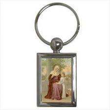 Buy St Anne Patron Saint Of Unmarried Single Women Key Ring