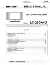 Buy Sharp LC26GD4U(1) Service Manual by download Mauritron #209946