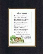 Buy Touching Poem for Home - House Blessings . . . on 11x14 Double Beveled Matting