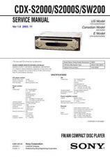 Buy Sony CDX-RW300 Manual by download Mauritron #228258