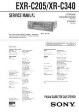Buy Sony EXR-C205-XR-C340 Service Manual by download Mauritron #240666