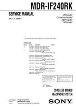Buy Sony MDR-IF240RK Service Manual by download Mauritron #232198
