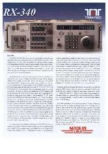 Buy AOR RX340 LEAFLET OPERATING by download #117394