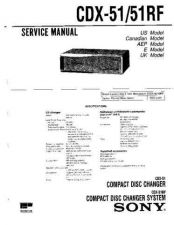 Buy Sony CDX-51RF Service Information by download Mauritron #237490