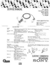 Buy Sony ECM-011 Service Manual by download Mauritron #240562