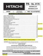 Buy Hitachi PA-0169 Service Manual by download Mauritron #263657