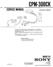 Buy Sony CPM-300CK Manual-1663 by download Mauritron #228419