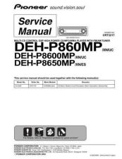 Buy Pioneer DEH-P8650MP Service Manual by download Mauritron #233769