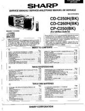 Buy Sharp CDC250H-260H-CPC250 -DE-FR Service Manual by download Mauritron #208469