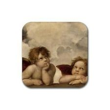Buy Angels Raphael Sistine Madonna Art Set Of 4 Square Rubber Coasters