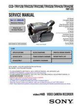 Buy Sony CCD-TRV128TRV228TRV228ETRV328TRV428TRV428EADJ Manual by download Mauritron