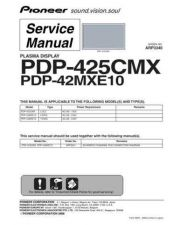 Buy Pioneer PDP-42MXE10 Service Manual by download Mauritron #234864