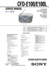 Buy Sony CFD-E100E100L Service Manual by download Mauritron #238797