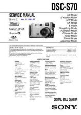 Buy Sony DSC-S85-2 Service Manual by download Mauritron #240313