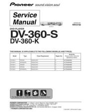 Buy Pioneer DV-3600-G-2 Service Manual by download Mauritron #234176