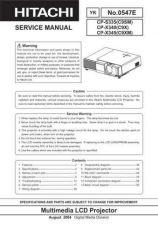 Buy Hitachi CP-X444[C11XMB] Service Manual by download Mauritron #261121