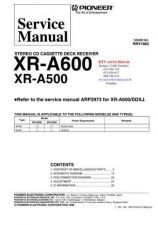 Buy PIONEER XRA600 XRA500 RRV1884 Technical Information by download #119408