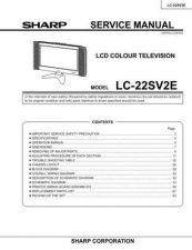 Buy Sharp LC22SV2U Service Manual by download Mauritron #209941