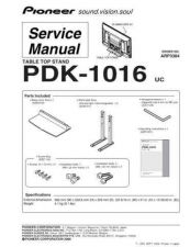 Buy Pioneer PDK-1016 Manual by download Mauritron #227648