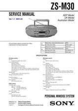 Buy Sony ZS-M30 Service Manual by download Mauritron #241976