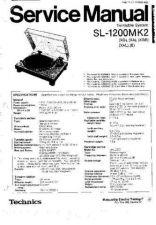 Buy Panasonic SL1200Mk2-se Operating Instruction Book by download Mauritron #23648