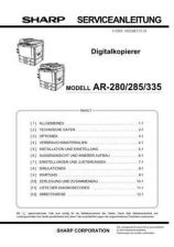 Buy Sharp AR287-337-407-507 (1) Service Manual by download Mauritron #208110