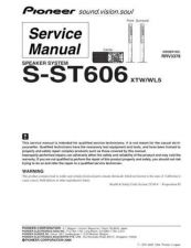 Buy Pioneer S-ST404 Manual by download Mauritron #228156