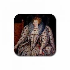Buy Queen Elizabeth I Art Set Of 4 Square Rubber Coasters