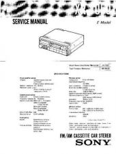 Buy Sony XR-6600RDS Service Manual. by download Mauritron #246138
