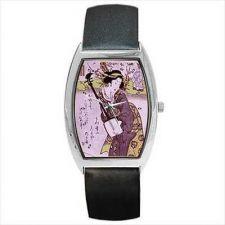Buy Geisha Woman Shamisen Japanese Vintage Art Wrist Watch