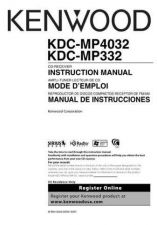 Buy Kenwood KDC-MP425 Operating Guide by download Mauritron #222031