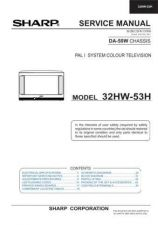 Buy Sharp 32HW53H (1) Service Manual by download Mauritron #207636