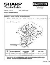 Buy SHARP FAX138 TECHNICAL BULLETIN by download #104324